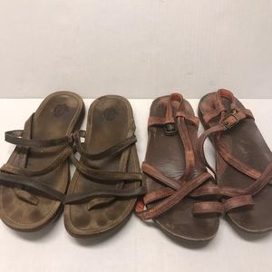 Chaco 2 pairs sandals w8